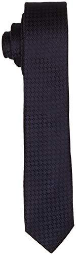 Seidensticker Herren Krawatte Seidenkrawatte 7 cm breit, Blau (Blau 19), (Herstellergröße: 7 cm breit)