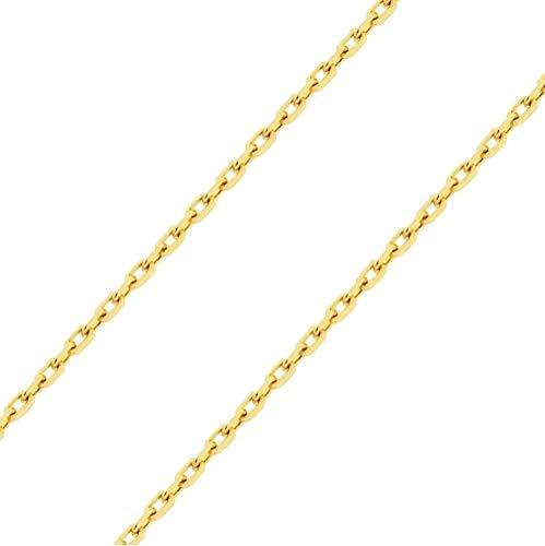 Corrente Cordão Cadeado 3mm 70cm Banhado a Ouro 18k