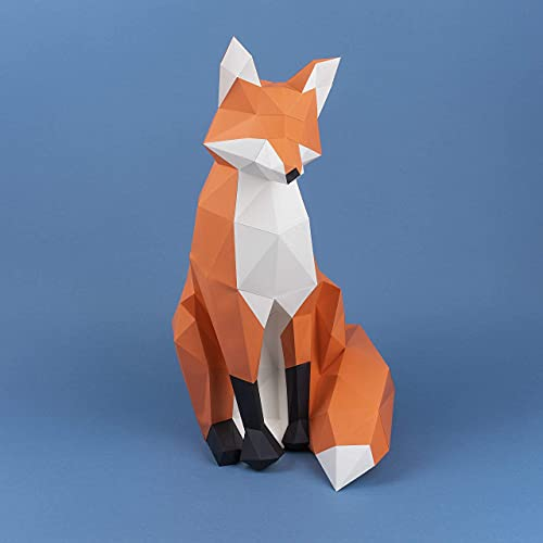Zorro Papercraft kit,Yona DIY Kit de origami 3D para montar a mano, 3D Puzzle para la decoración de hogar,Trofeo de papel, Regalo de papel, Bricolaje en papel, Rompecabezas 3D