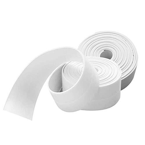 Schimmelband, wasserfest, Kantenschutz für die Wand, Weiß, 2 Stück