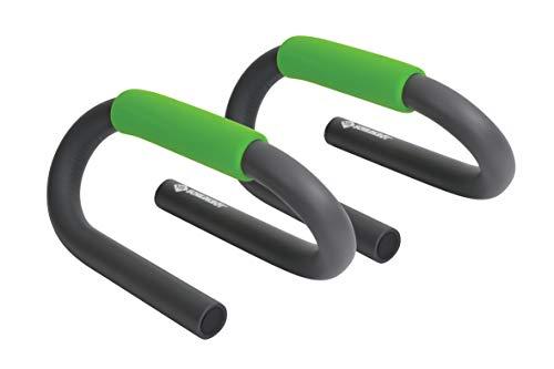 Schildkröt Fitness Push Up Bars, 2 Liegestützengriffe, Anthrazit-Grün, in 4-Farb Karton, 960040