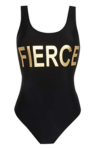 Primark Fierce Slogan Badpak UK 6 Zwart