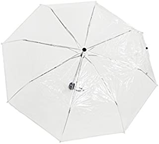 Home-X - Clear Travel & Folding Umbrella, Perfect Size for Portable Use, Windproof Design Provides Protection in All Kinds of Weather