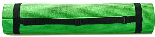 "BalanceFrom GoYoga 7-Piece Set - Include Yoga Mat with Carrying Strap, 2 Yoga Blocks, Yoga Mat Towel, Yoga Hand Towel, Yoga Strap and Yoga Knee Pad (Green, 1/4""-Thick Mat)"
