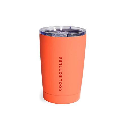 Cool Bottles Vaso Térmico de Acero Inoxidable | 330 ml | Vaso Térmico | Termo Café para Llevar | Vaso con Tapa para Bebidas frías o Calientes | Vaso térmico café | Libre de BPA