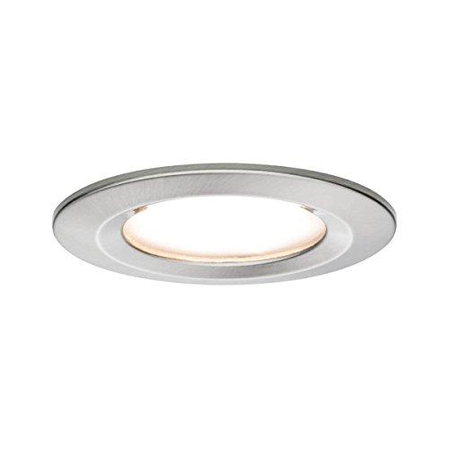 Paulmann 93493 Einbauleuchte LED Coin Nova rund 6,5W Eisen 1er-Set starr 3-Stufen-Dimmbar IP44 spritzwassergeschützt