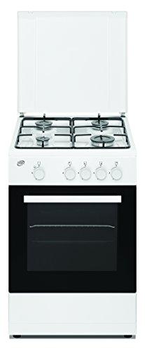 DAYA Cucina a Gas DSGC-50764, 4 Fuochi Gas, Forno a Gas, Dimensioni 50x50 cm, Colore Bianco