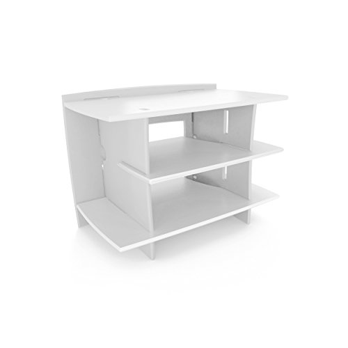 Legaré Furniture Kids Gaming and TV Media Stand, Standard Storage Unit for Bedroom, Basement, and Playroom, White