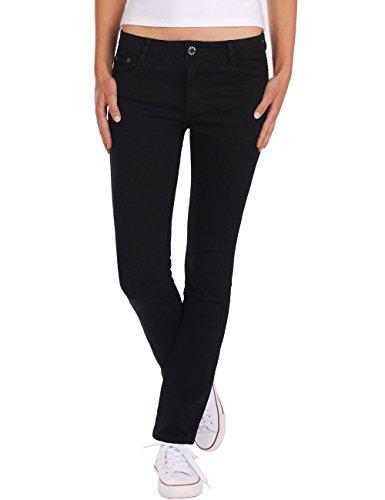 Fraternel Pantalones Vaqueros Mujer Recto Straight Negro XL