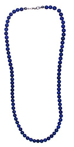 Lapislazuli Kette Kugelkette, Perlenkette Lapislazuli Halskette 45 cm