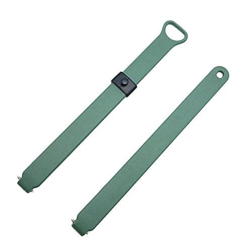 Sharplace Verstellbare Uhrenarmband Silikon Handgelenk für Misfit Ray Fitness Tracker Armband - Grün