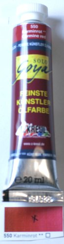 Unbekannt Solo Goya Feinste Künstler Ölfarbe 32550 Karminrot 20ml Tube - Malfarbe - Künstlerbedarf