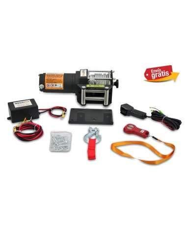 WinchPro - Verricello Elettrico, 1360 Kg, Telecomando Senza Fili, 12 Metri Di Cavo In Acciaio, 12V, Piastra Di Montaggio - AG / AW-3000
