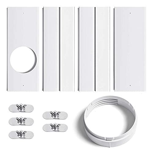 Uniqal - Kit di finestra per condizionatore d'aria portatile con attacco regolabile per finestra per unità AC, kit di sfiato CA scorrevole per tubo di scarico