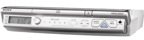 Sony ICF-CD543RM Kitchen CD Clock Radio (Silver) (Discontinued by Manufacturer)