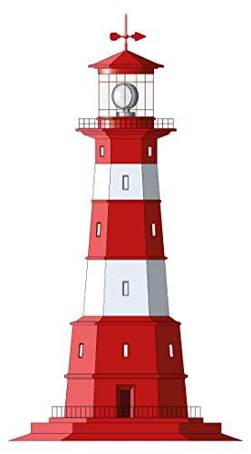 Wandtattoo Leuchtturm rot weiß Wandsticker maritime Dekoration Boote Schiffe