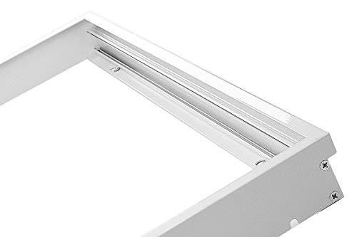LUMIXON Marco para panel LED de 60 x 60 cm, marco de montaje, marco de aluminio plateado o blanco (blanco)