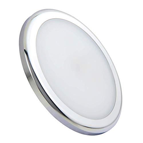 acegooPlafoniera LED 12VØ105mm 3200K 6W 480lm Luce Interne Rotonda Montaggio Superficiale per CaravanBarcaCamperFurgone RimorchioYacht Cucina Bianco Caldo