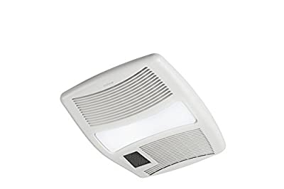 """Broan QTXN110HL Ultra Silent Heater Combination Ventilation Fan with Light in 6"""" Round Ducting (110 CFM)"""