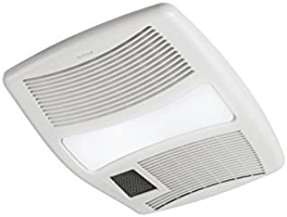 Broan QTXN110HL Ultra Silent Heater Combination Ventilation Fan with Light in 6