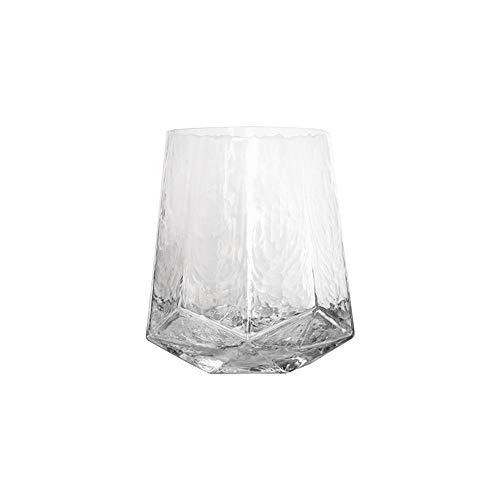 N / C Vaso de Vidrio, finamente Pulido, Cristal, Hecho a Mano, se Puede Utilizar en hogares y oficinas, Lleno de Belleza.