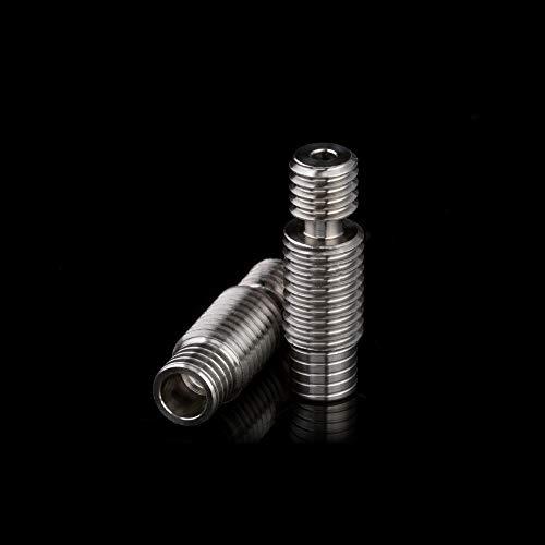 BZ 3D Super glatter hochpräziser V6 - Brazo térmico de aleación de titanio para extrusor V6 Hotend Bowden 1,75 mm de impresora 3D (2 unidades)(Aleación de titanio)