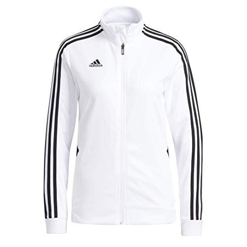 adidas Damen Tiro Trainingsjacke, Damen, Jacke, Alphaskin Tiro Training Jacket, weiß / schwarz, Small