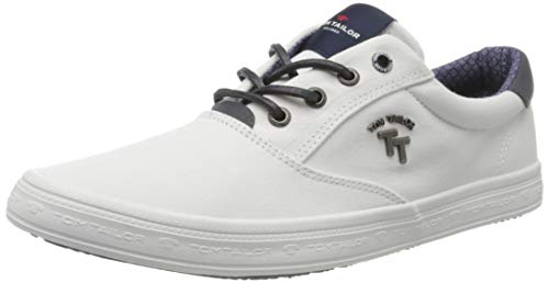 TOM TAILOR Herren 8081303 Sneaker, Weiß (White 00002), 43 EU