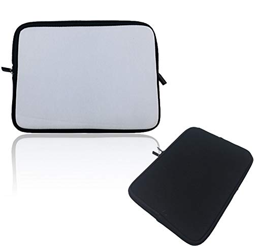 ACERANK Neoprene Laptop Graphic Tablet Sleeve Water Repellent Shock Resistant Case Notebook Briefcase Carrying Bag, Single Blank Side Printable for Personalized Heat Transfer Sublimation Images