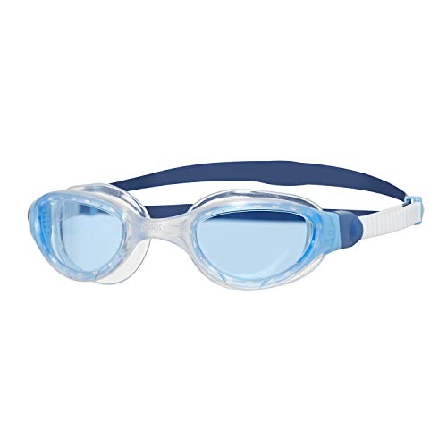 Zoggs Unisex-Adult Phantom 2.0 Swimming Goggles, White/Blue/Tint, One Size