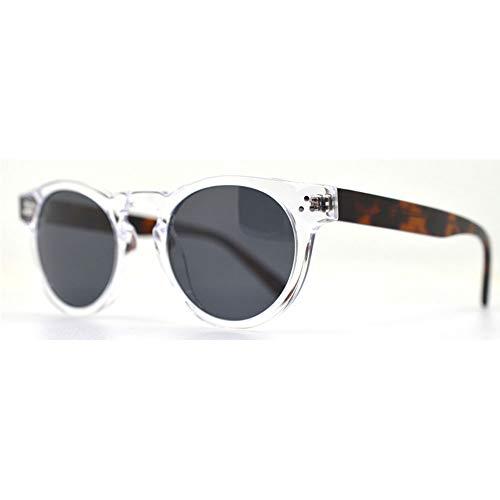 Sebasty Gafas de sol retro de montura grande HD UV400 pretection unisex polarizadas luz resina panel marco blanco (color: blanco)