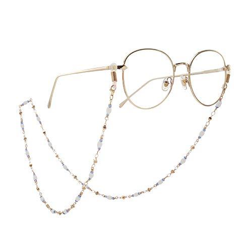 Occhiali a catena Tutti gli occhiali a mano antiscivolo catena Occhiali da sole Accessori Occhiali catena perline cristallo di prima scelta reale placcatura in oro a catena Antiscivolo Occhiali Lanyar