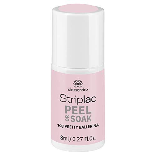 alessandro Striplac Peel or Soak Pretty Ballerina – LED-Nagellack in zartem Rosa – Für perfekte Nägel in 15 Minuten – 1 x 8ml