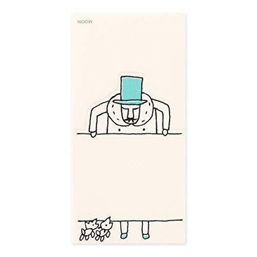 デザインフィル ミドリ メモ スタンドメモ 看板柄 オジサン25th 2冊セット 91802668
