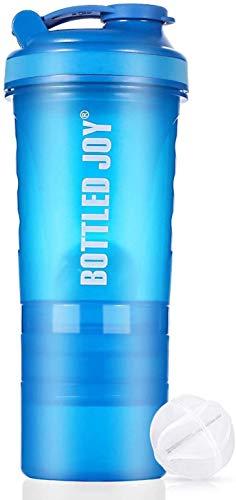 プロテイン シェイカー VENNERLI 20oz 600ml筋トレフィットネスシェーカーボトルスポーツ 水筒 4層式 サプリメント プロテイン収納セット男女兼用 おしゃれ 機能性 持ち運び シェーカー直飲