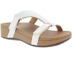 Vionic Pacific Ellie Wedge Ladies Walking Sandal with Concealed Orthotic Arch Support