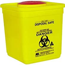 MEDICAL WASTE AND SHARPS COLLECTOR, 4.75L, W/LID, EA