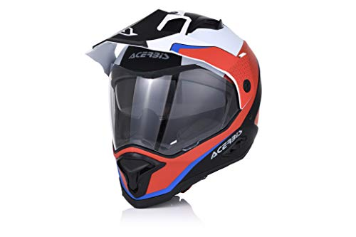 Acerbis casco reactive graffix rosso/bianco s