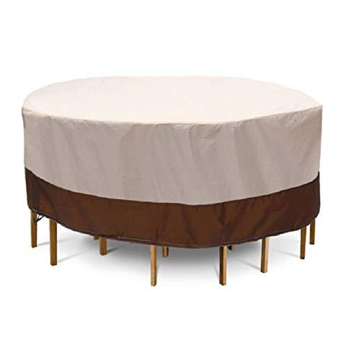ZZX Funda para Muebles de Jardín, Impermeable 210D Oxford Cubierta para Muebles Mesas Sillas Sofás Fundas Anti-UV Resistente al Polvo,Ronud 188x84cm