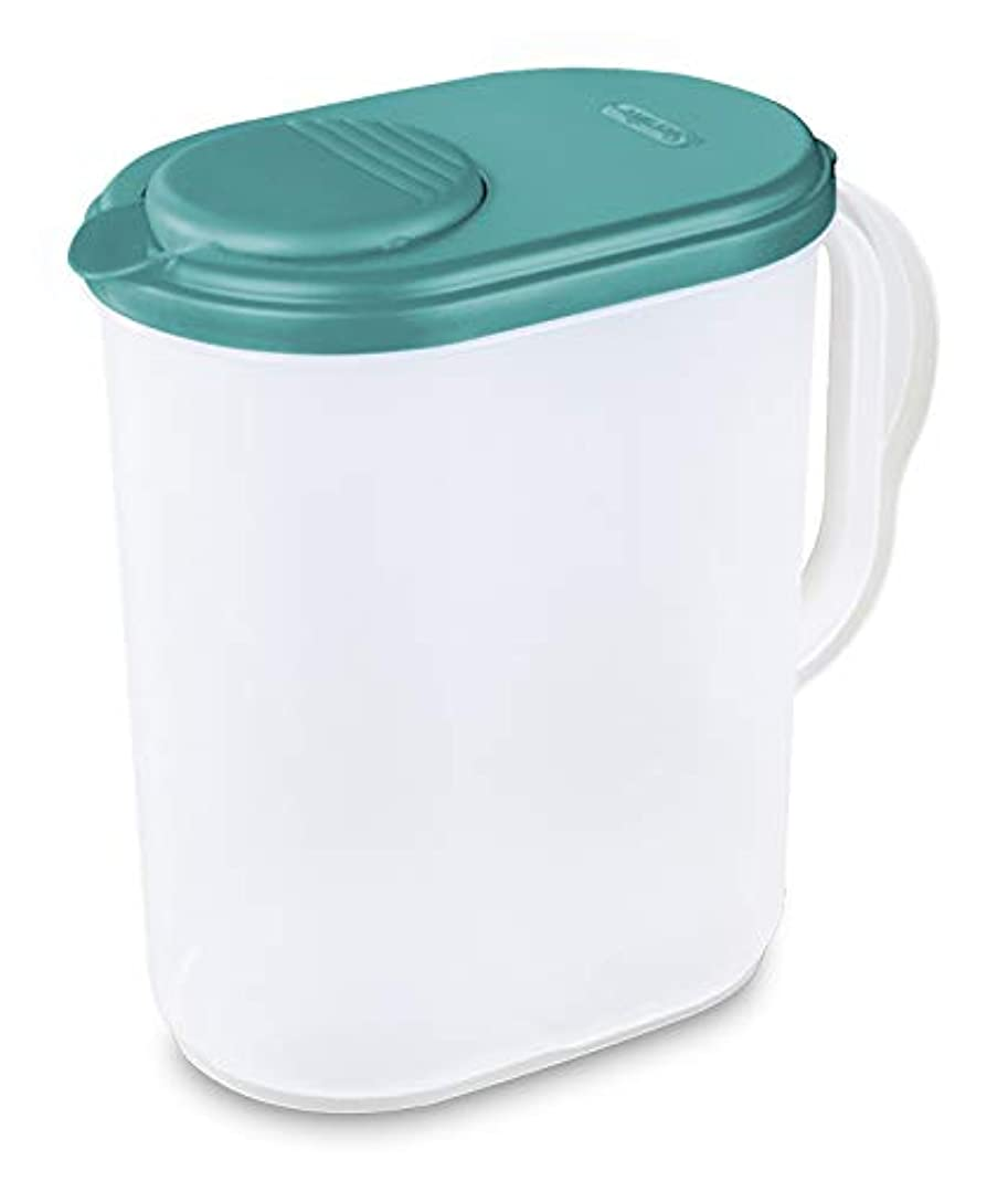 1 Gallon Pitcher Blue Atoll Lid w/tab Freezer and Dishwasher Safe Mix Drinks right in the Pitcher Water Tea Juices BPA-free and phthalate-free zppn88407