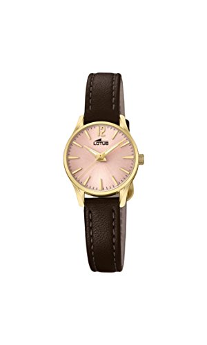 Lotus Watches Reloj Análogo clásico para Mujer de Cuarzo con Correa en Cuero 18574/2