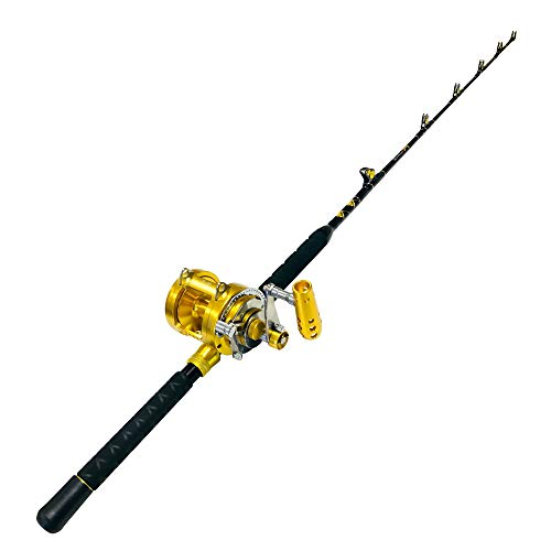 EatMyTackle 30 Wide 2 Speed Fishing Rod and Reel Combo