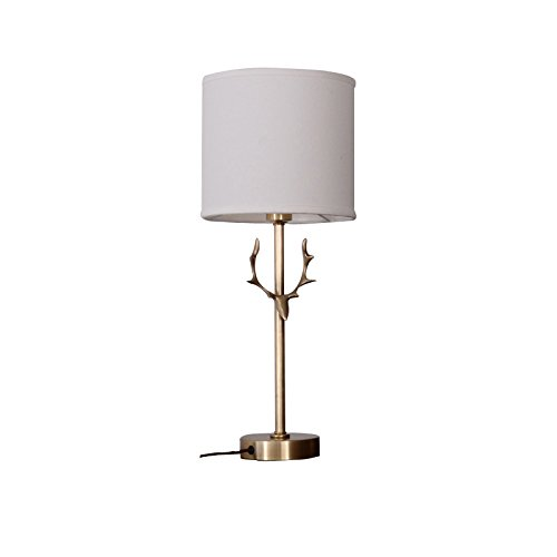 SDKKY la chambre lampe de chevet, lampadaire, cuivre lampe, american lampe de table, lampadaire copper bois étudier le salon