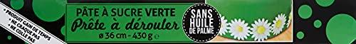 PATISDECOR Pâte à Sucre Vert à Derouler Vanille 350 g P916
