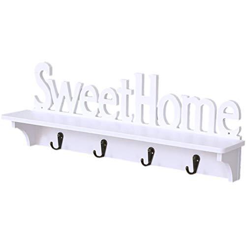 Tomaibaby - Perchero con estante de pared, perchero de pared, gancho para colgar en la casa, suave, creativo, de pared, estantería de almacenamiento para pasillo, cuarto de baño, salón o dormitorio