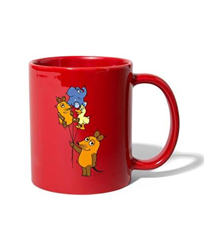 Die Sendung Mit Der Maus 50 Jahre Jubiläum Drei Luftballons Tasse einfarbig, Rot