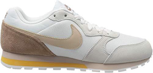 Nike Womens MD Runner 2 Sneaker, White/Fossil Stone-Desert Dust, 38 EU