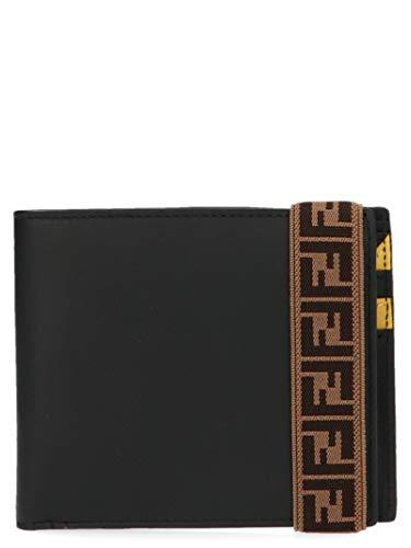 Luxury Fashion | Fendi Heren 7M0266A8VCF17BJ Zwart Leer Portemonnees | Lente-zomer 20