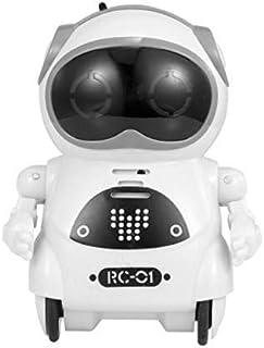 ربات اسباب بازی قابل حمل LUCKYSSR ربات کوچک جیبی آموزشی برای مکالمه گفتگوی تعاملی کودکان ، کنترل صدا ، ضبط چت ، آواز