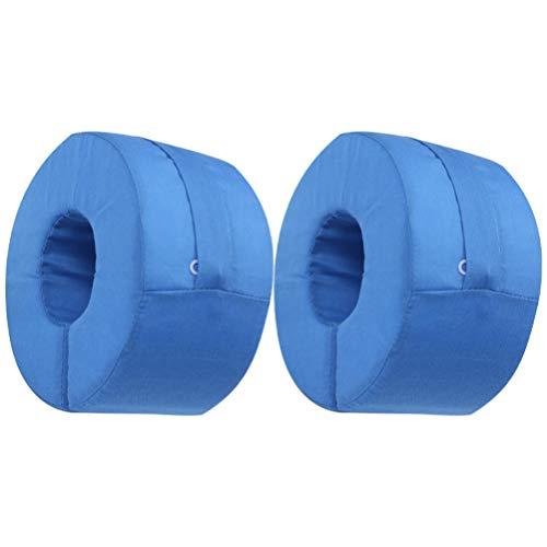 EXCEART 2Pcs Anillo de Almohada de Elevación de Pie Soporte de Pierna de Elevación Protector de Tobillo Soporte de Talón de Pierna de Pie Cojín de Elevación de Pie Cuña de Pierna para